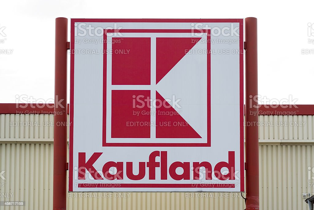 Sign of Kaufland market royalty-free stock photo