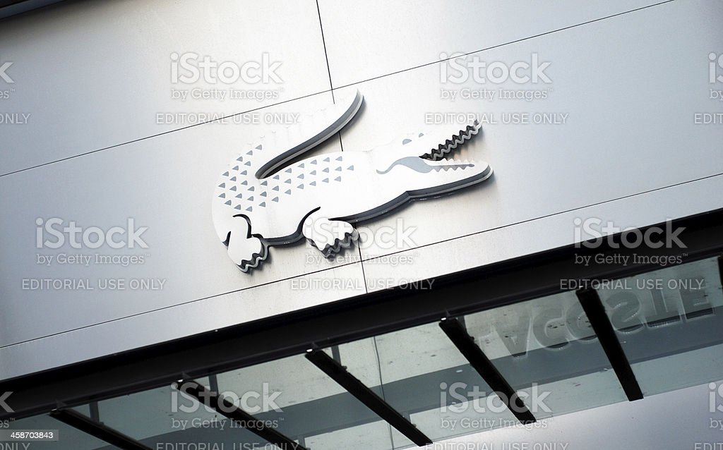 Sign of Lacoste shop in Liverpool stock photo