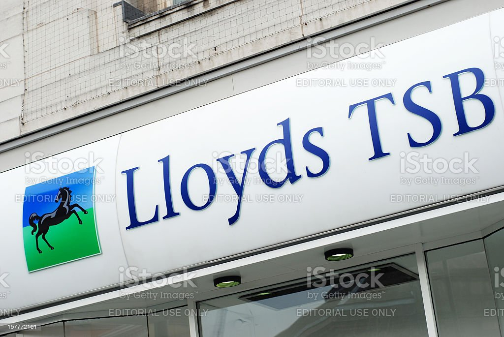 Sign of Lloyds TSB bank in Liverpool stock photo