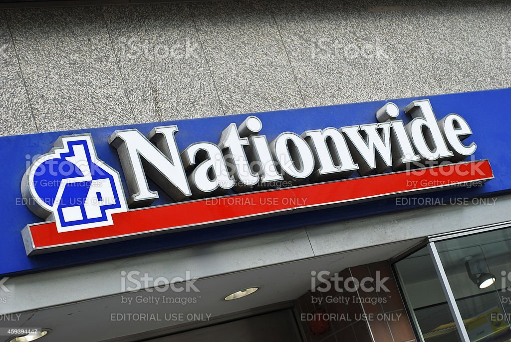 Sign of Nationwide in Liverpool stock photo