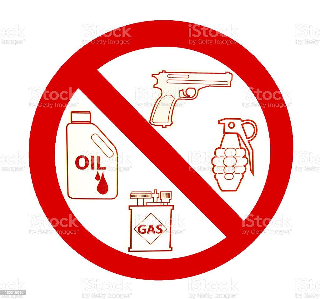 Sign of no gun stock photo