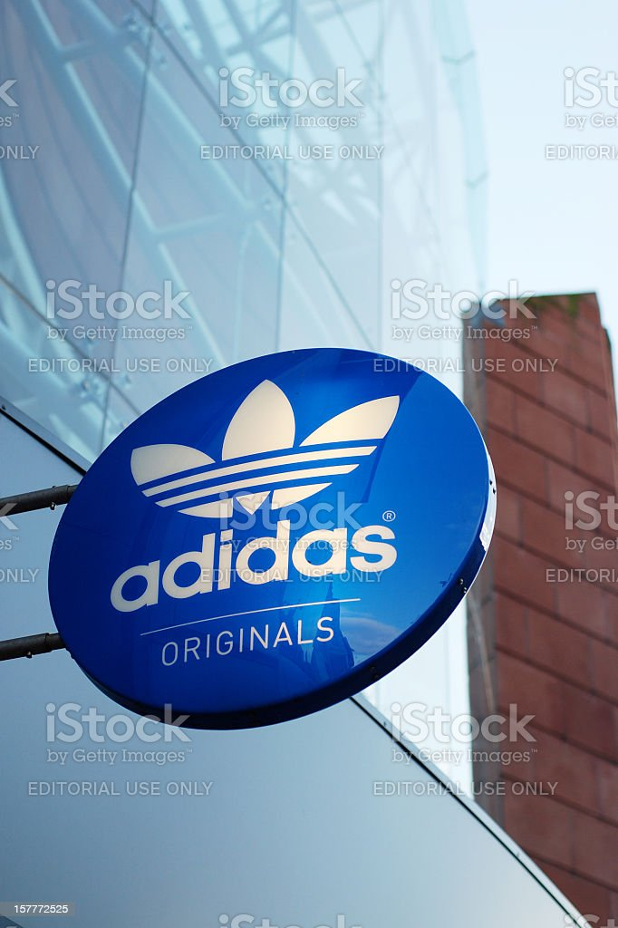 Sign of the Adidas store in Liverpool stock photo
