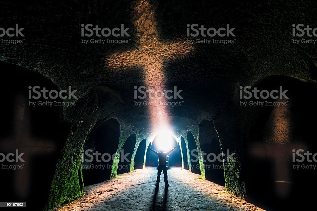 sign of the cross and Christianity stock photo