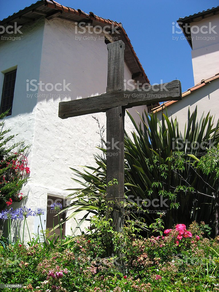 Sign of the Cross stock photo