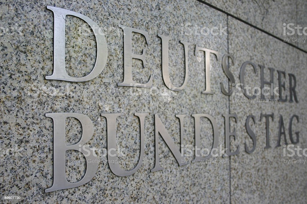 sign of the german bundestag royalty-free stock photo