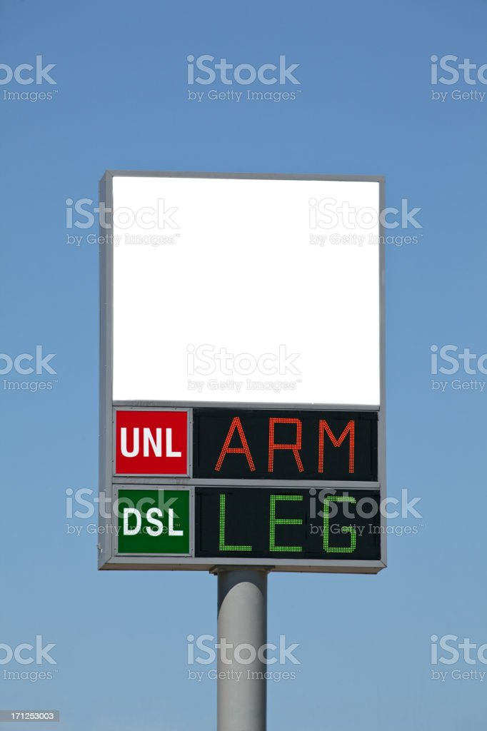 Sign of the Times stock photo