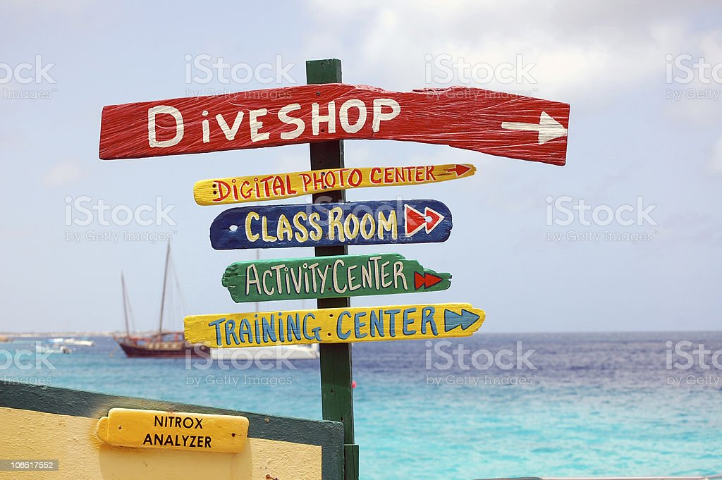 Sign of Vacation Choices stock photo