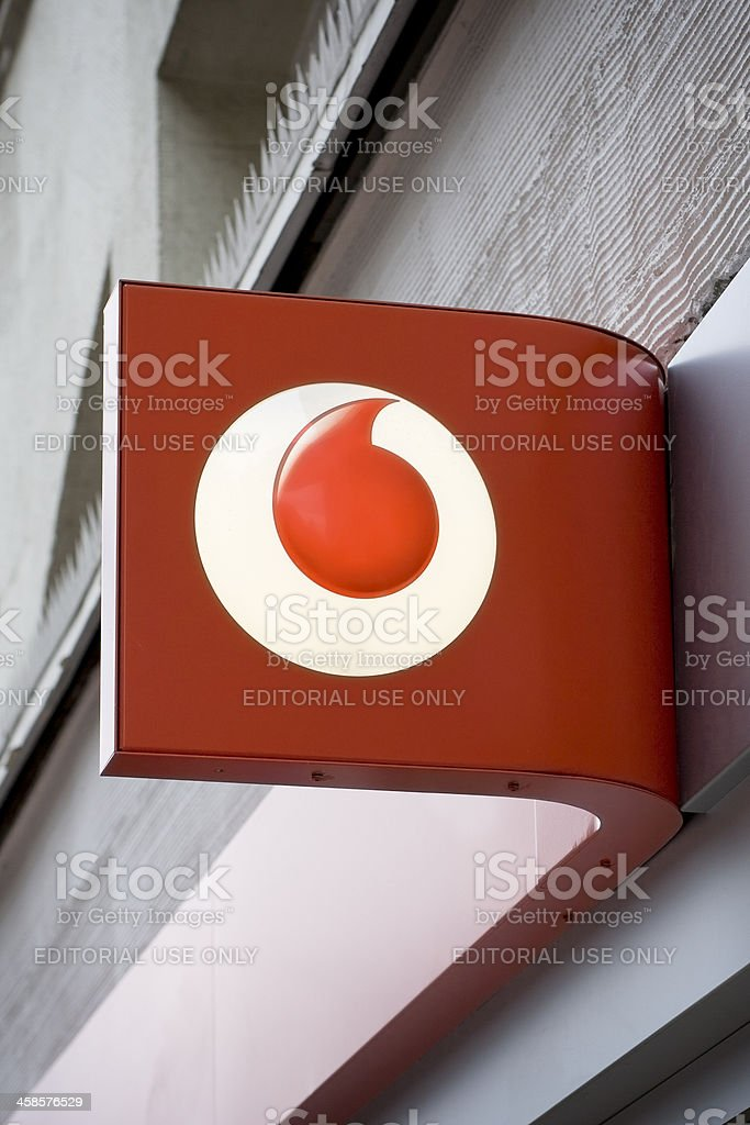 Sign of Vodafone Shop stock photo