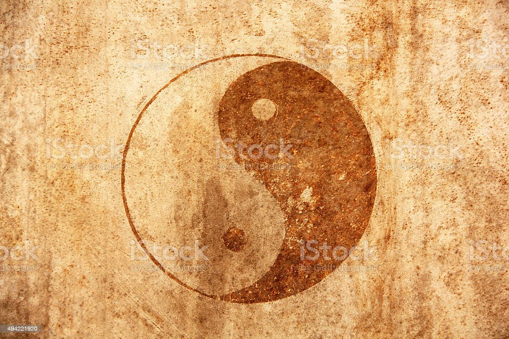 Sign of Yin Yan stock photo