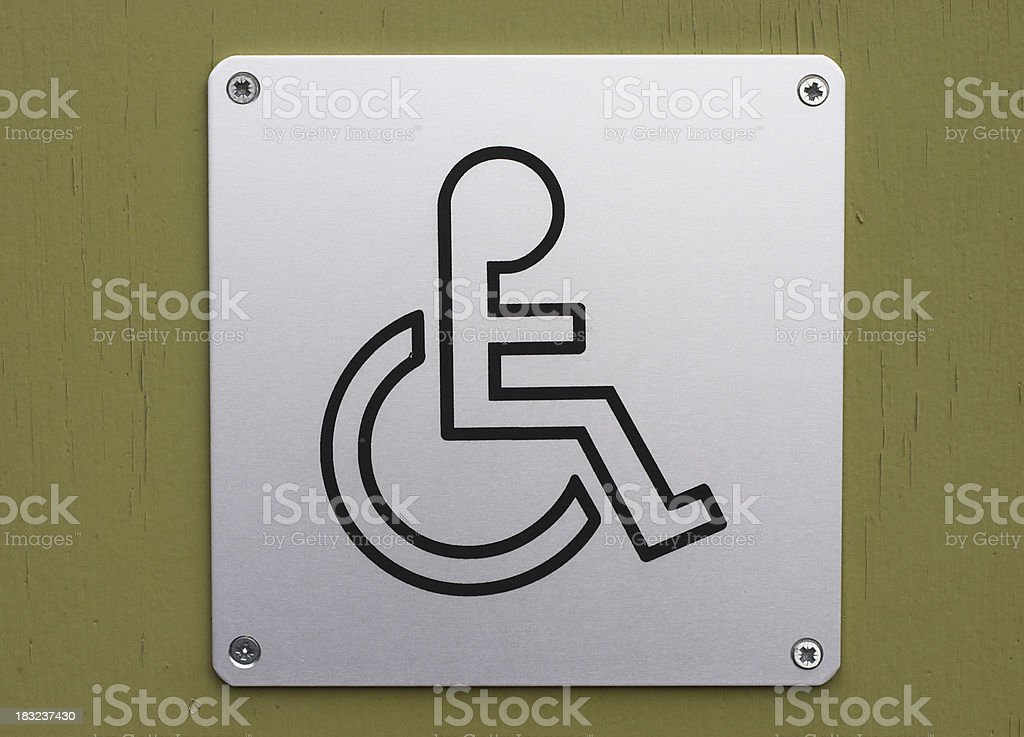 Notice / symbol toilet for the wheelchair bound royalty-free stock photo
