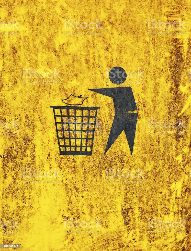 sign on dustbin royalty-free stock photo
