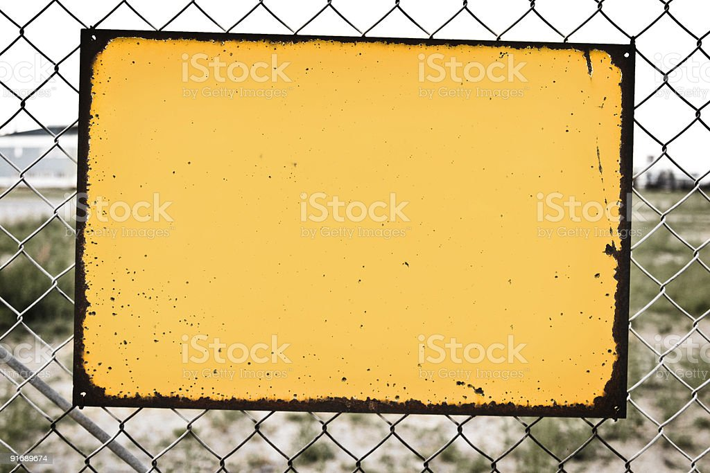 Sign on fence royalty-free stock photo