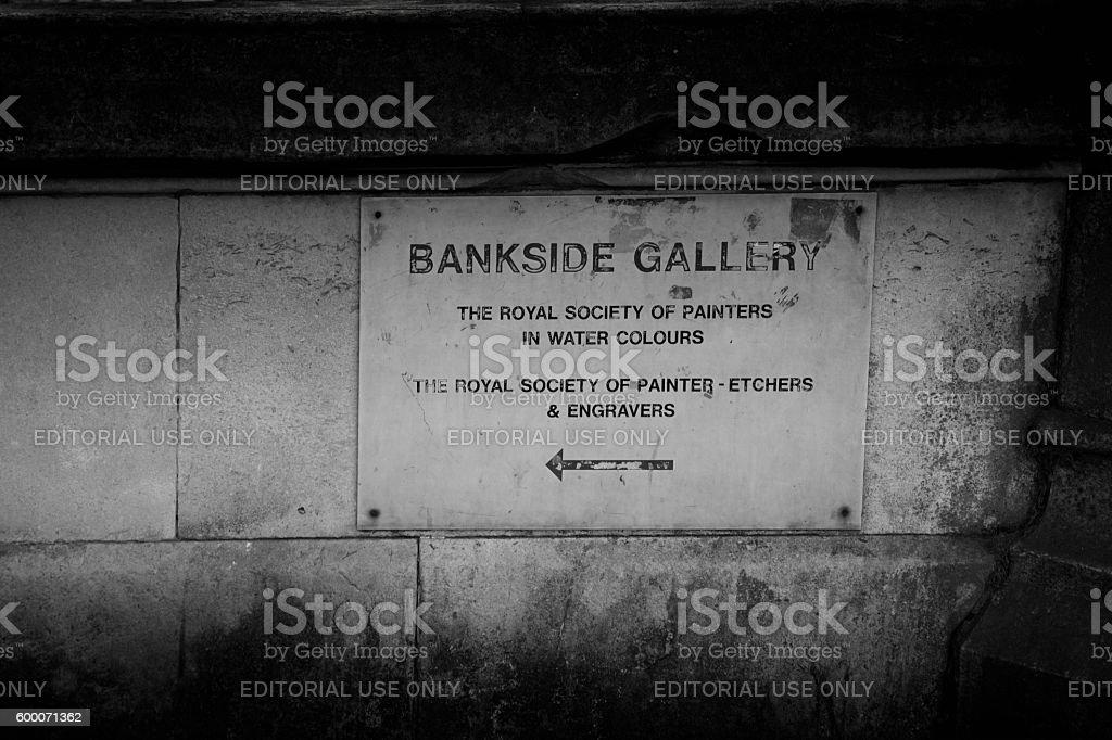 Sign on Thames embankment stock photo