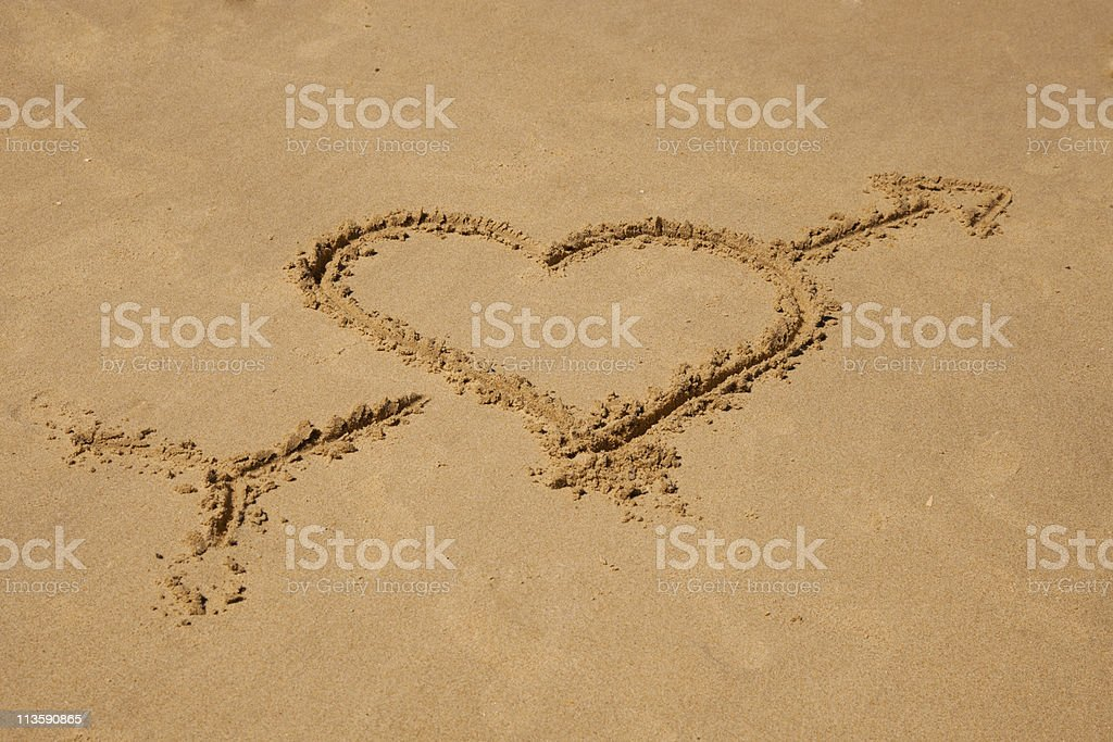 Sign on the beach stock photo