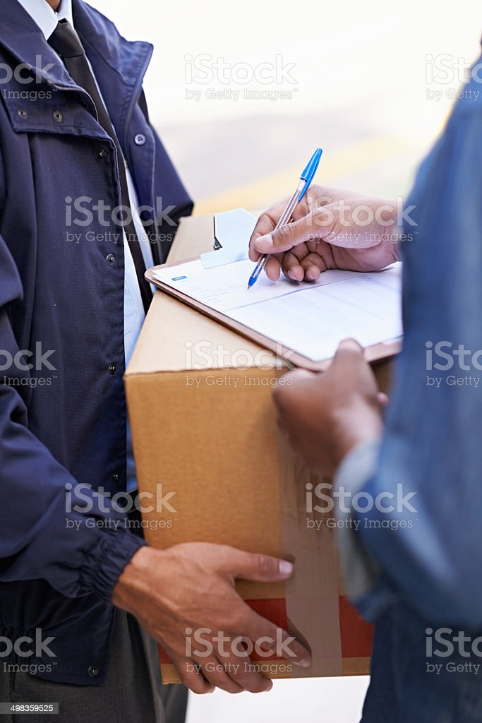 Sign on the dotted line stock photo