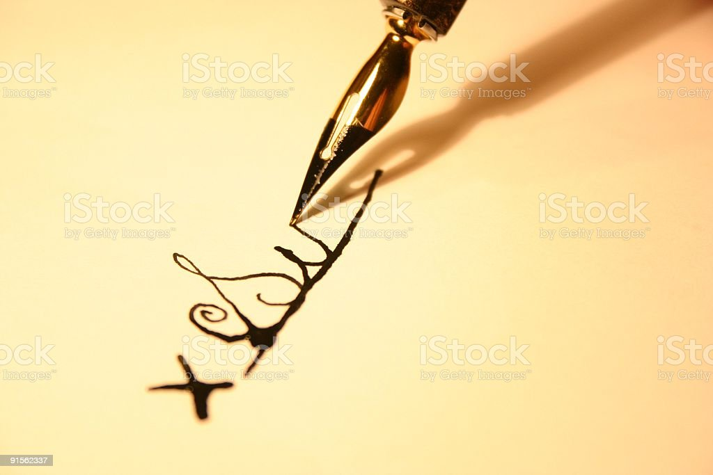 Sign on the line royalty-free stock photo