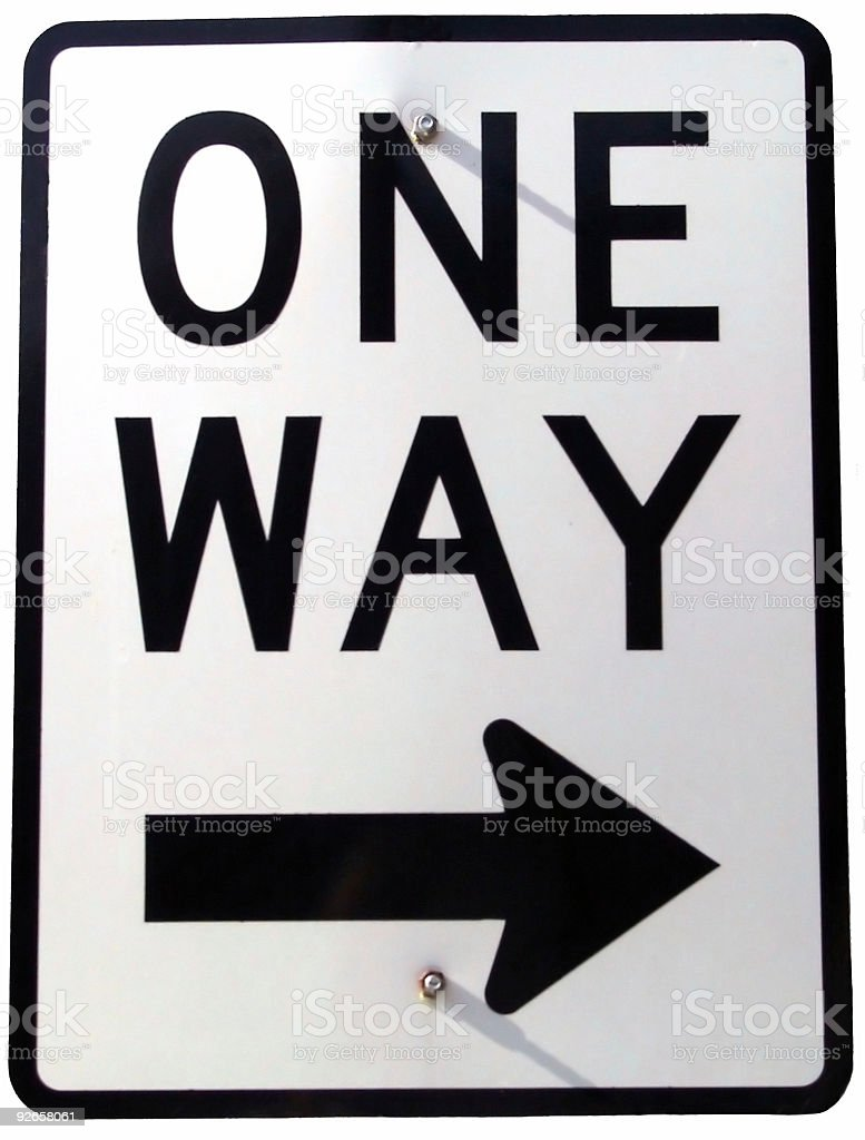 Sign - One Way 1 royalty-free stock photo