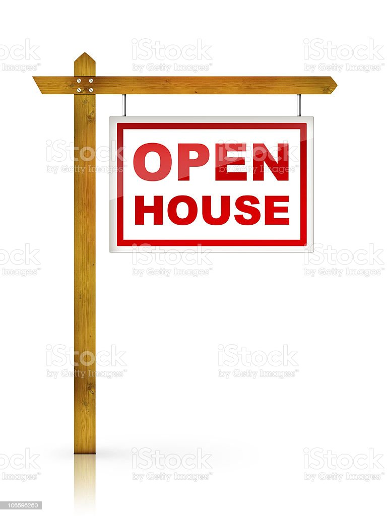 Sign - Open House stock photo