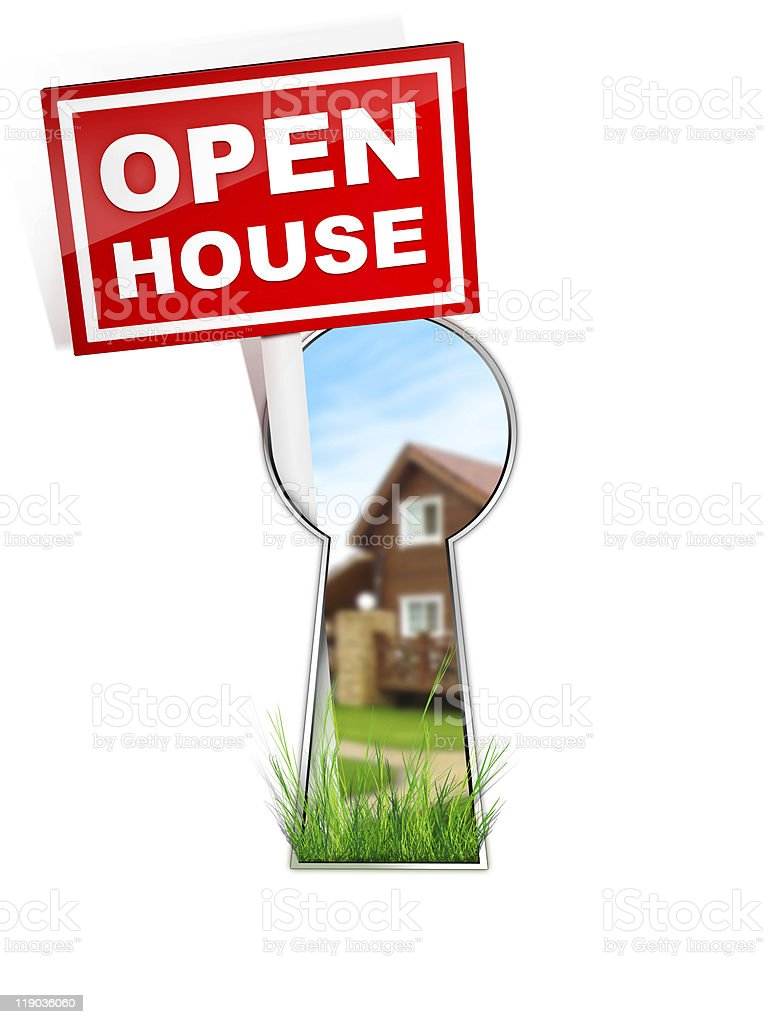 Sign - Open House royalty-free stock photo