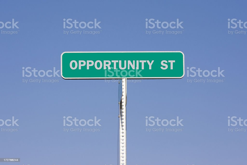 Sign - Opportunity Street royalty-free stock photo