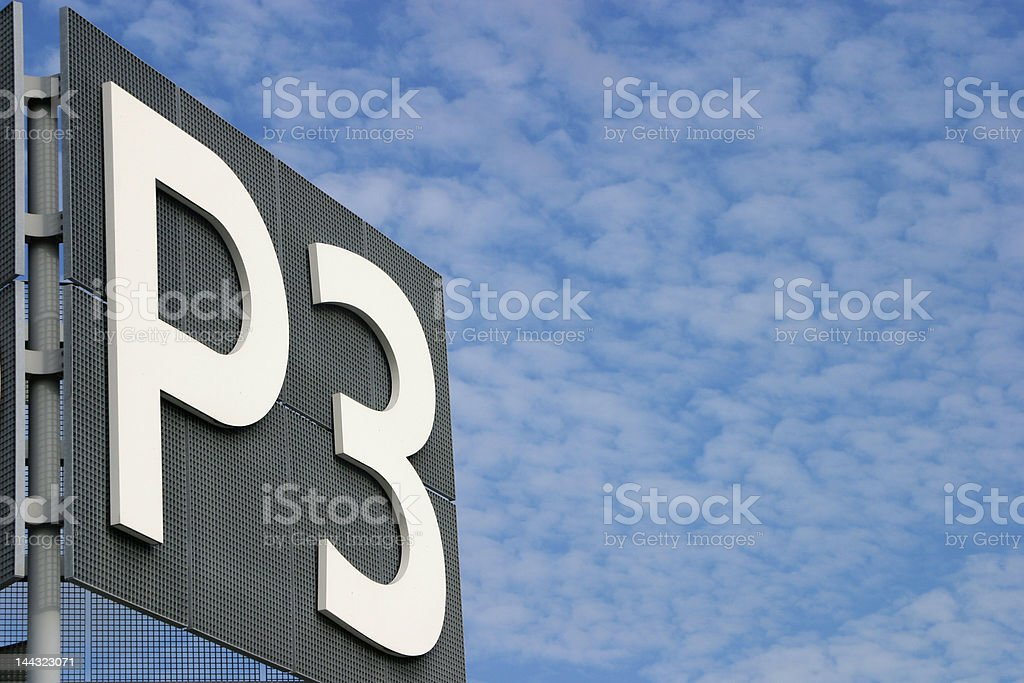 Sign parking P3 royalty-free stock photo