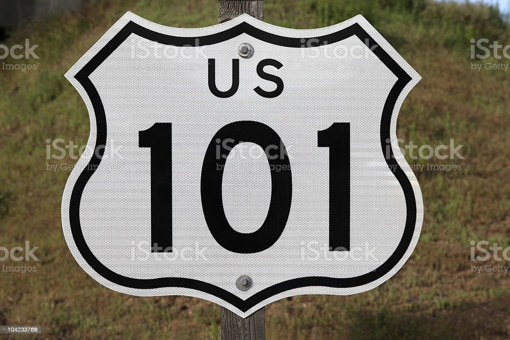 US 101 Sign stock photo