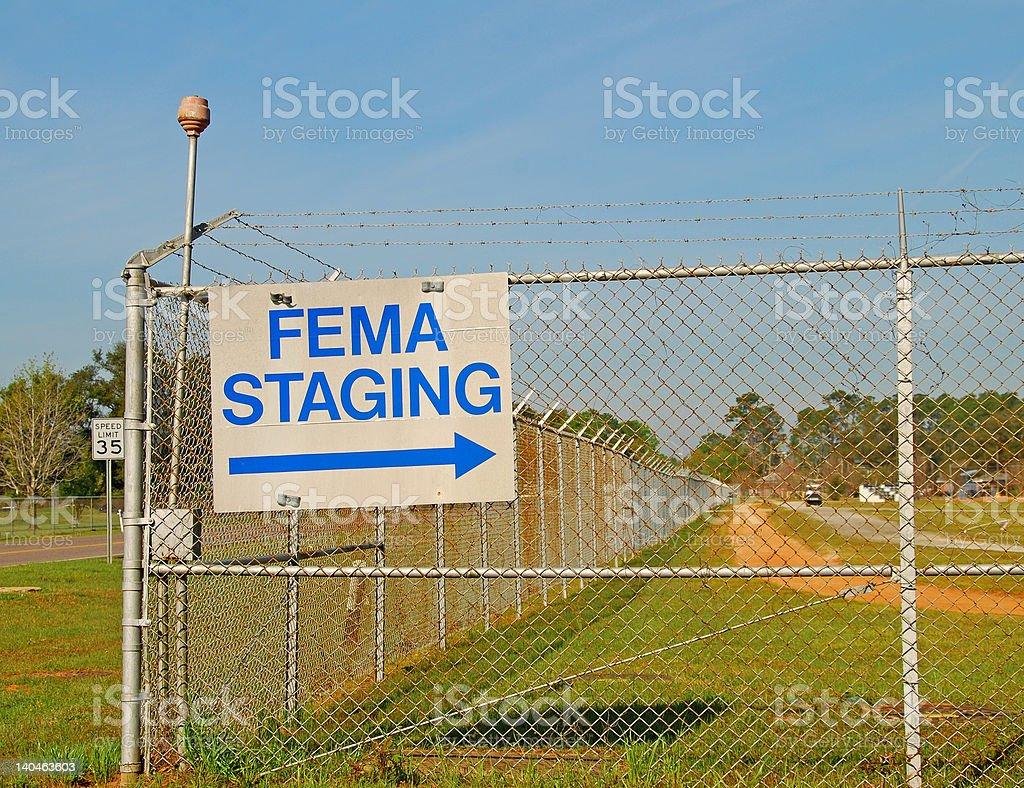 FEMA Sign stock photo