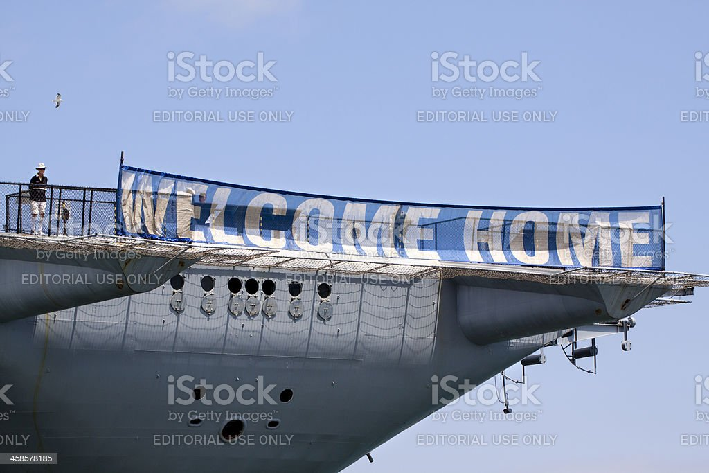 WELCOME HOME Sign stock photo