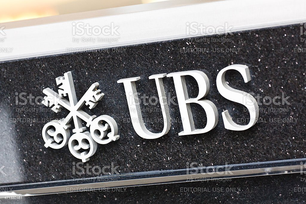 UBS sign stock photo