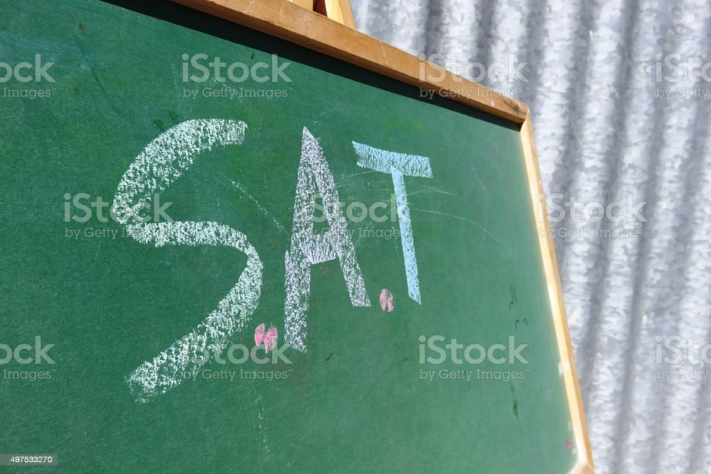 S.A.T Sign stock photo