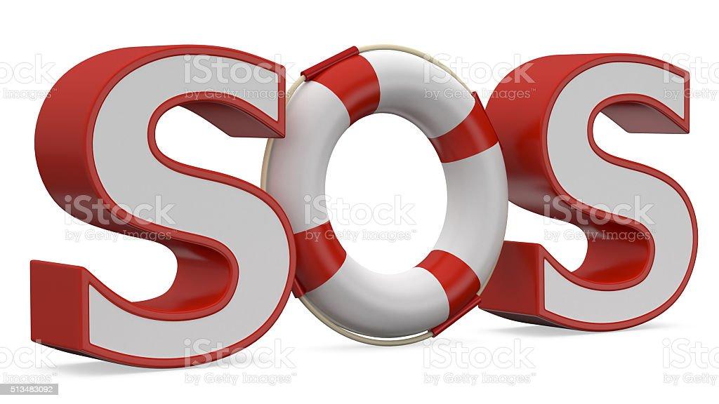 SOS sign stock photo