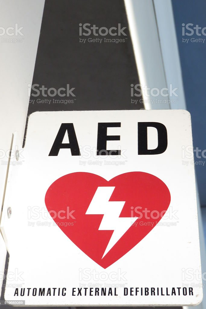 AED sign stock photo