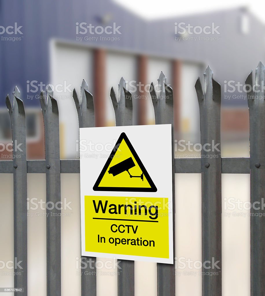 CCTV Sign stock photo