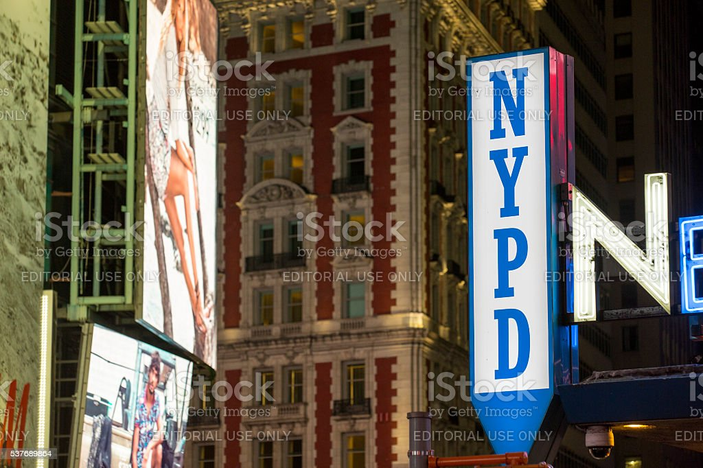 NYPD sign stock photo
