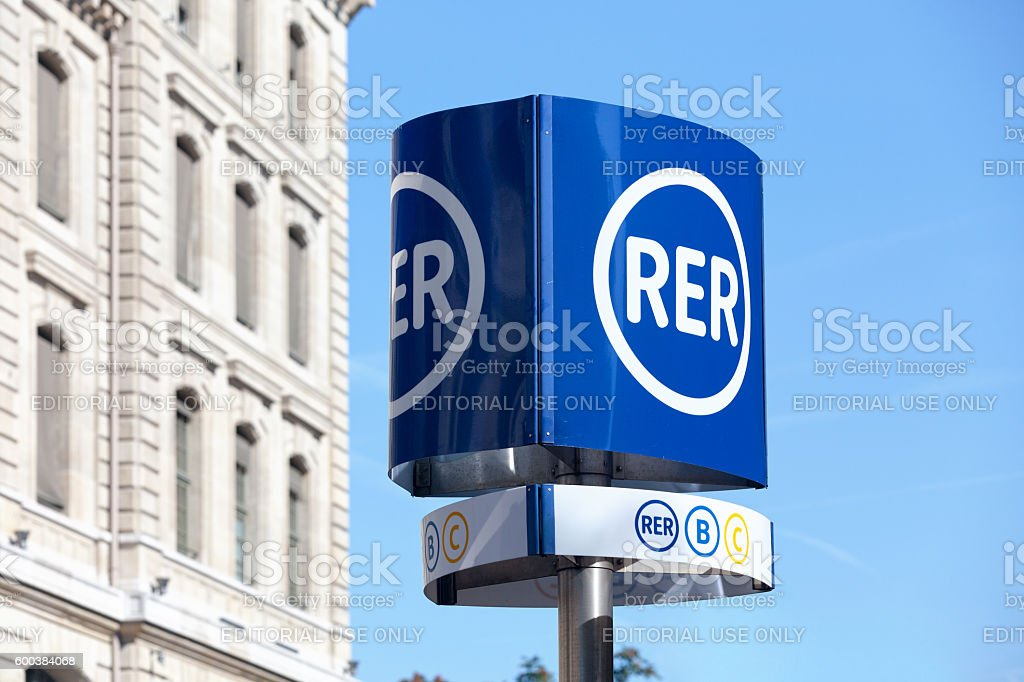 RER sign stock photo
