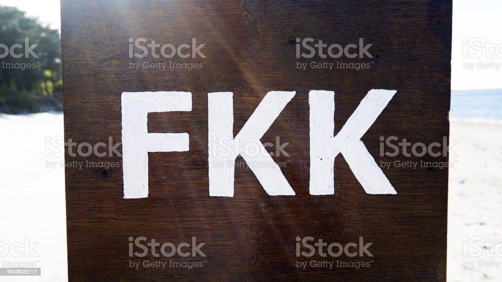 FKK sign stock photo