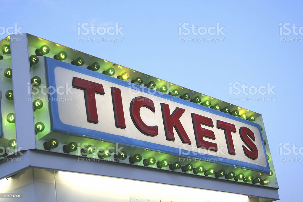 TICKETS Sign royalty-free stock photo