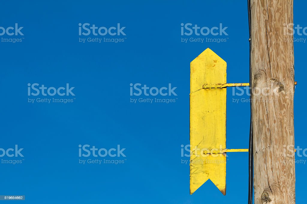 Sign pointing up stock photo