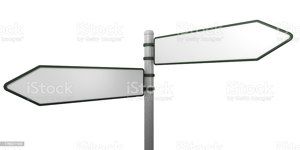 Sign post on white stock photo