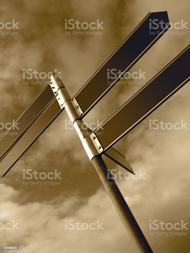 Sign Posts royalty-free stock photo
