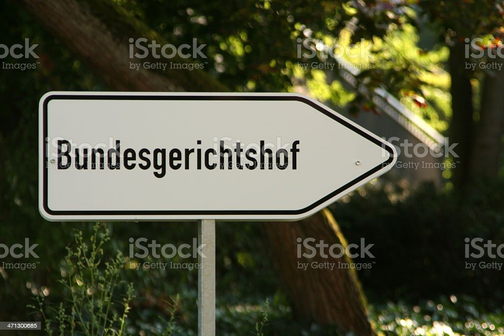 "Sign ""Bundesgerichtshof"" stock photo"