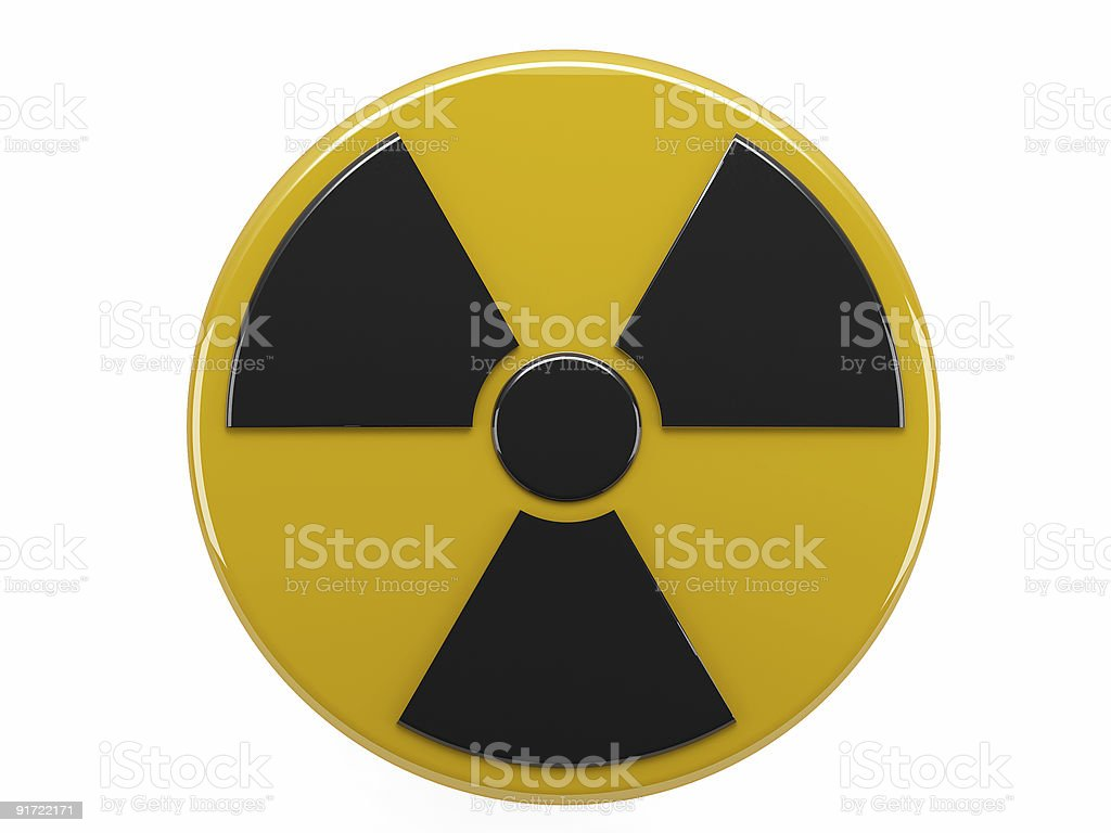 sign radiation stock photo