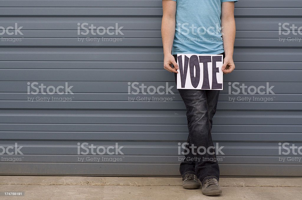 Sign reminding us to vote royalty-free stock photo