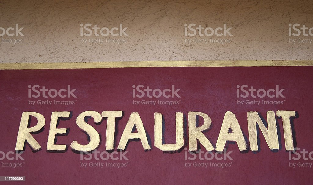 Sign Restaurant royalty-free stock photo