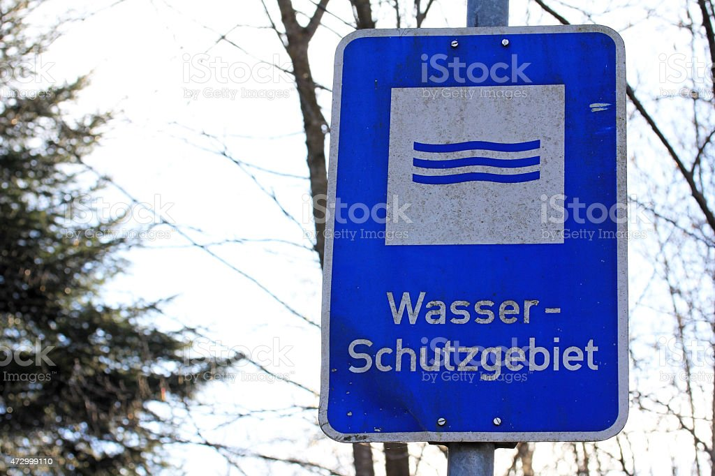 sign saying water reserve stock photo