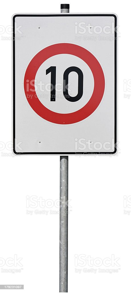 Sign, speed limit stock photo