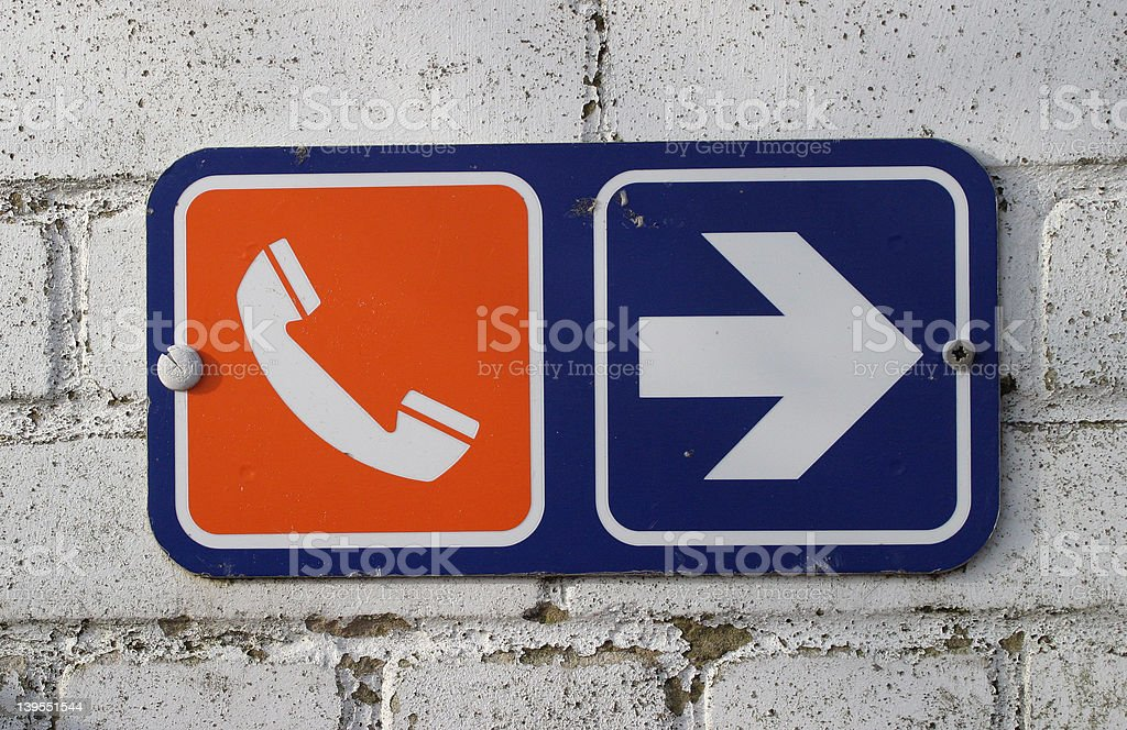 Sign, Telephone royalty-free stock photo