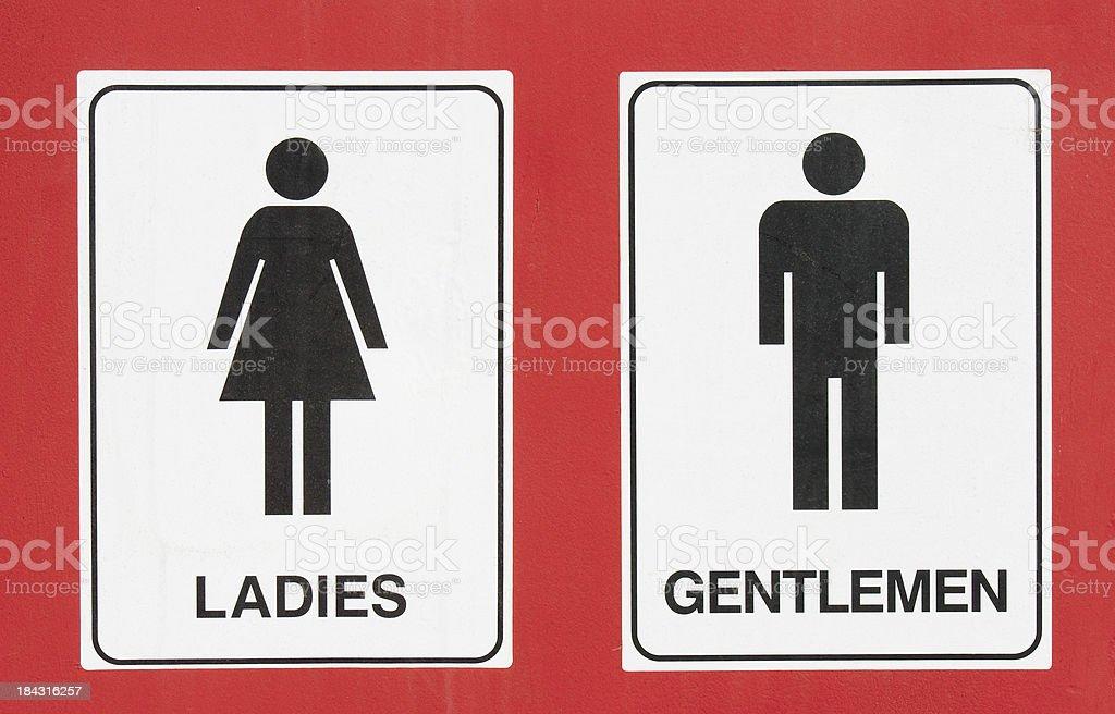 Sign - Toilets stock photo