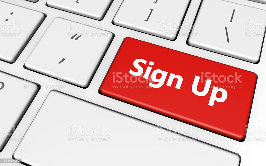Sign Up Button stock photo