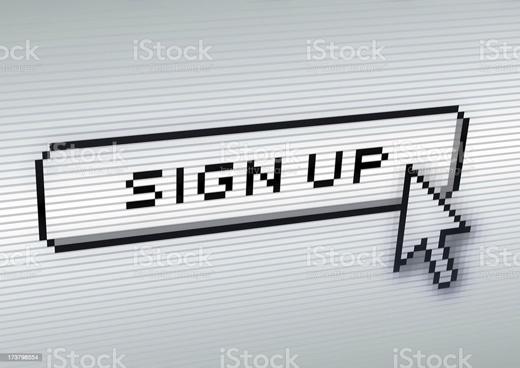 Sign up now! royalty-free stock photo